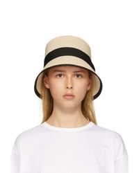 Fumito Ganryu Beige Abaca Porkpie Hat