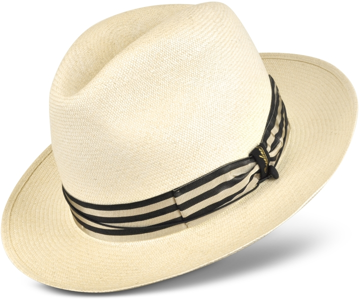 0c59173e Borsalino Beige And Blue Stripe Band Real Panama Hat, $998 ...