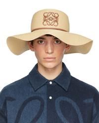 Loewe Beige Paulas Ibiza Paper Capeline Beach Hat