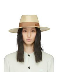 Maison Michel Beige Straw Charles Panama Hat