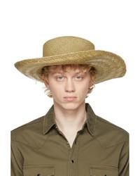 Saint Laurent Beige Straw Honolulu Hat