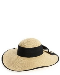 Bow floppy straw hat beige medium 3904347