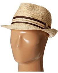 Tommy Bahama Buri Straw Fedora With Contrast Trim Traditional Hats