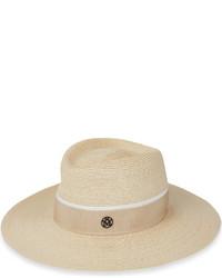 Maison Michel Charle Hemp Straw Fedora Hat