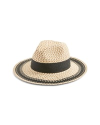 Nordstrom Contrast Detail Textured Weave Panama Hat