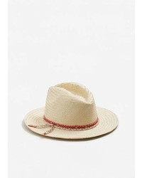 Mango Contrast Ribbon Fedora Hat
