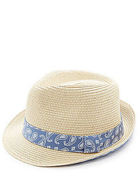 Cremieux Paisley Fedora Hat