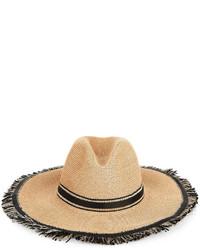 Fil Hats Natural Black Straw Batu Tara Hat