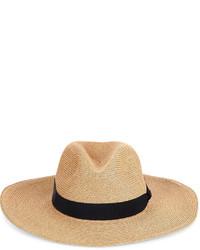 Fil Hats Natural Straw Batu Tara Fedora Hat
