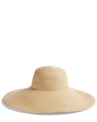 Floppy straw hat black medium 3904358