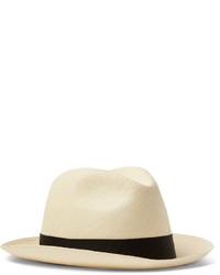 Lock & Co Hatters Grosgrain Trimmed Straw Panama Hat