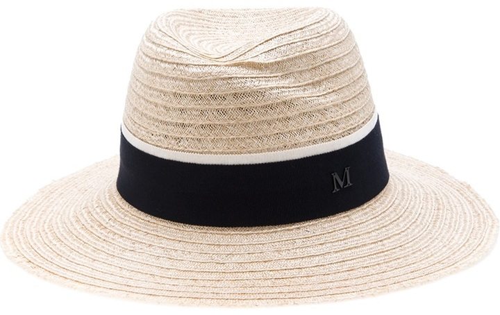 Black Straw Virginie hat Maison Michel lyMbvJ