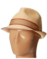 Tommy Bahama Matte Raffia Fedora With Two Tone Band