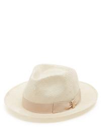 Borsalino Melousine Straw Fedora Hat