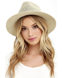 LuLu*s My Piece Of Peace Natural Straw Fedora Hat