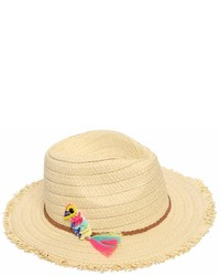 Billieblush Parrot Straw Effect Hat