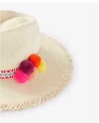 Express Pom Straw Hat