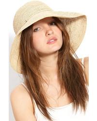 Helen Kaminski Provence 12 Packable Raffia Hat Beige