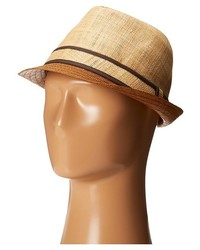 Tommy Bahama Raffia Fedora With Brown Brim Traditional Hats