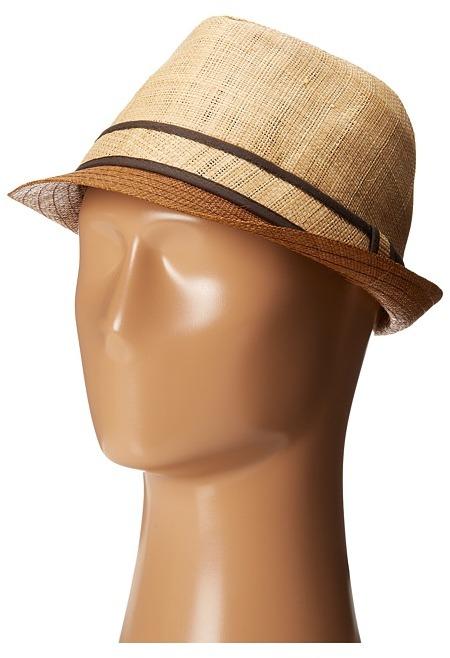 ... Straw Hats Tommy Bahama Raffia Fedora With Brown Brim Traditional Hats  ... e13881bab93