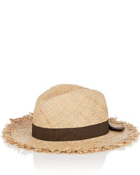 Barneys New York Raw Edge Straw Hat