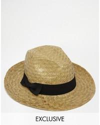 Reclaimed Vintage Straw Fedora Hat