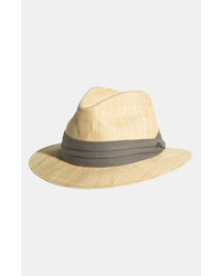 Rough cotton raffia fedora medium 190023