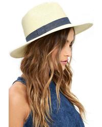 LuLu*s San Diego Hat Co Fresh Fields Beige Straw Hat
