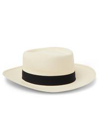 Lock & Co Hatters Savannah Grosgrain Trimmed Straw Panama Hat