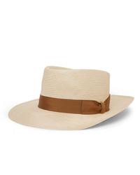 Lock & Co Hatters Sicily Grosgrain Trimmed Straw Panama Hat