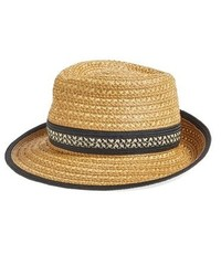 Eric Javits Squishee Straw Fedora Brown