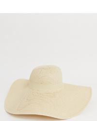 South Beach Straw Extra Wide Brim Floppy Wired Hat