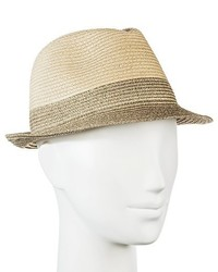 Merona Straw Hat Fedora Tan With Shine