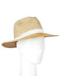 Merona Straw Hat Panama Two Tone Tan