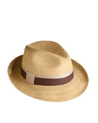 Tilley R7 Medium Brim Raffia Town Hat Natural Raffia With Brown And Tan Hatband Small 6 78 7