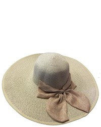 Tu Anh Boutique Beige Bow Sunhat