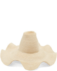 Rosie Assoulin Waved Brim Hemp Straw Hat