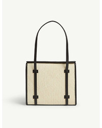 Hunting Season Straw And Nappa Leather Box Tote