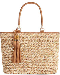 Marled straw tote only at macys medium 535990