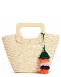 Straw ring handle basket tote medium 6989984