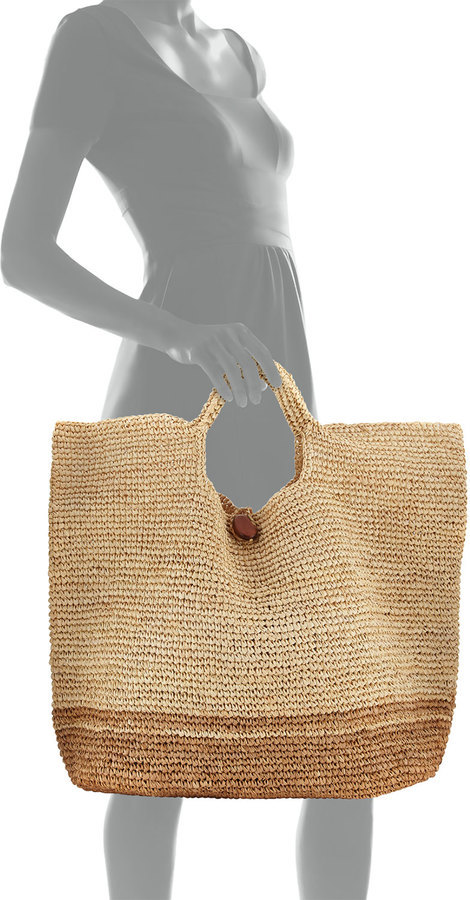 103cff3c233 Tash Two Tone Beach Tote Bag Neutral