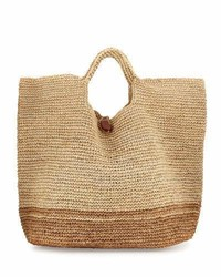 Tash two tone beach tote bag neutral medium 950051