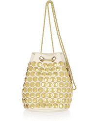 Beige Studded Crossbody Bag