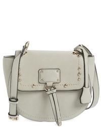 Studded faux leather crossbody bag pink medium 624723