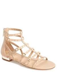 Hevelli studded leather gladiator sandal medium 270099