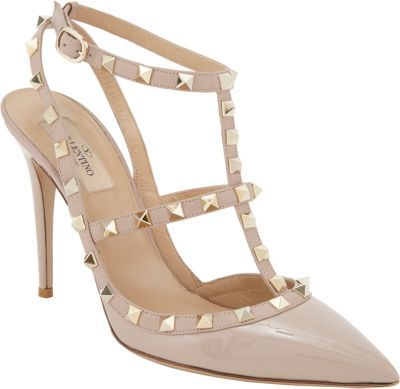 abf2c9537d9011 ... Beige Studded Leather Pumps Valentino Rockstud Slingback Pumps Nude ...