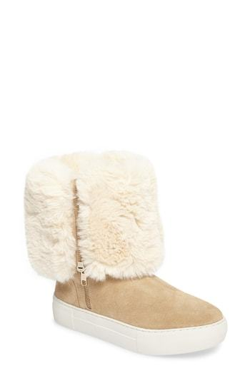 JSLIDES Apple Faux Shearling Boot