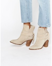 Asos Elishia Suede Slouch Ankle Boots