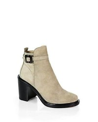 Elizabeth and James Tilie Suede Ankle Boots Stone