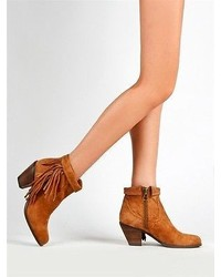 Sam Edelman New Louie Fringe Western Mid Heel Ankle Boot Suede ...